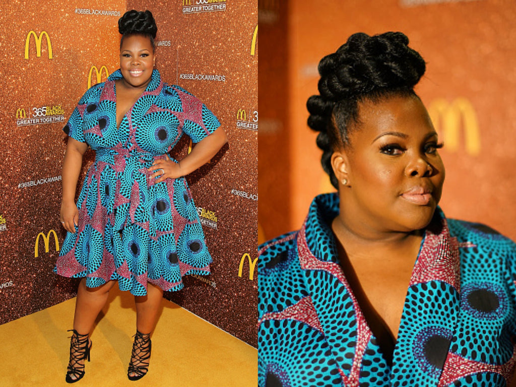 Amber Riley in African print