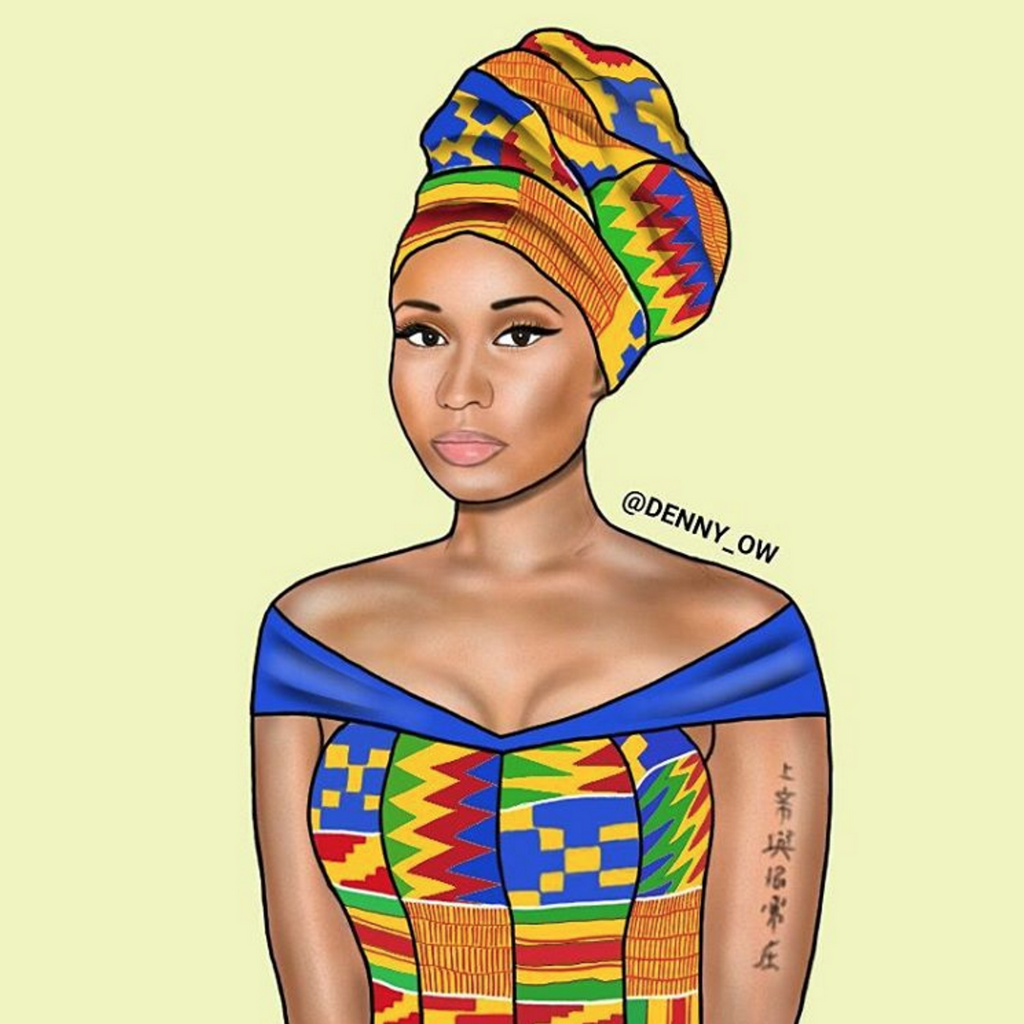 Nicki Minaj and Diddy rocking Kente outfits!