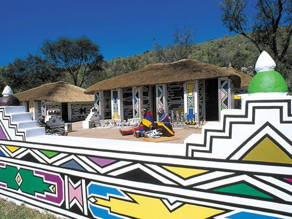 Painted Ndebele home