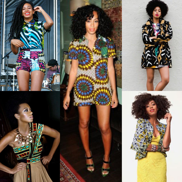 Solange in African prints