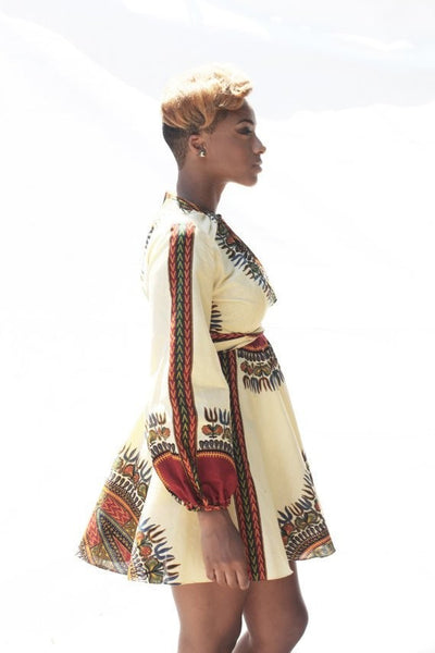 Shop at Kuwala for the Zhara Dress (Cream) by Asikere Afana - 4