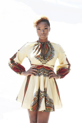 Shop at Kuwala for the Zhara Dress (Cream) by Asikere Afana - 1