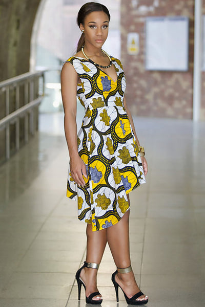 Shop Kuwala.co for the Ankara Rebekah Dress by Gitas Portal