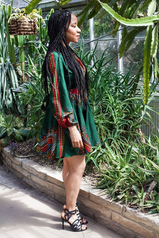 Shop Zhara Dress (Forest Green) by Omi Woods at Kuwala