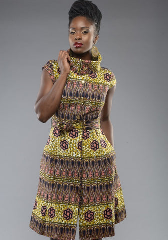 Shop at Kuwala for the Countess Ankara Dress by Gitas Portal - 2