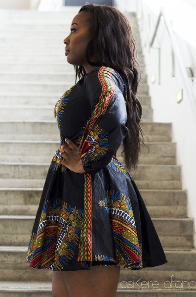 Shop at Kuwala for the Zhara Dress (Noir) by Asikere Afana - 2
