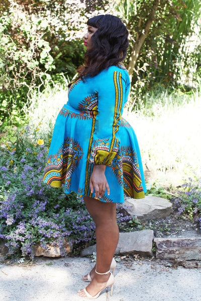 Shop at Kuwala for the Zhara Dress (Aqua Blue) by Asikere Afana - 4