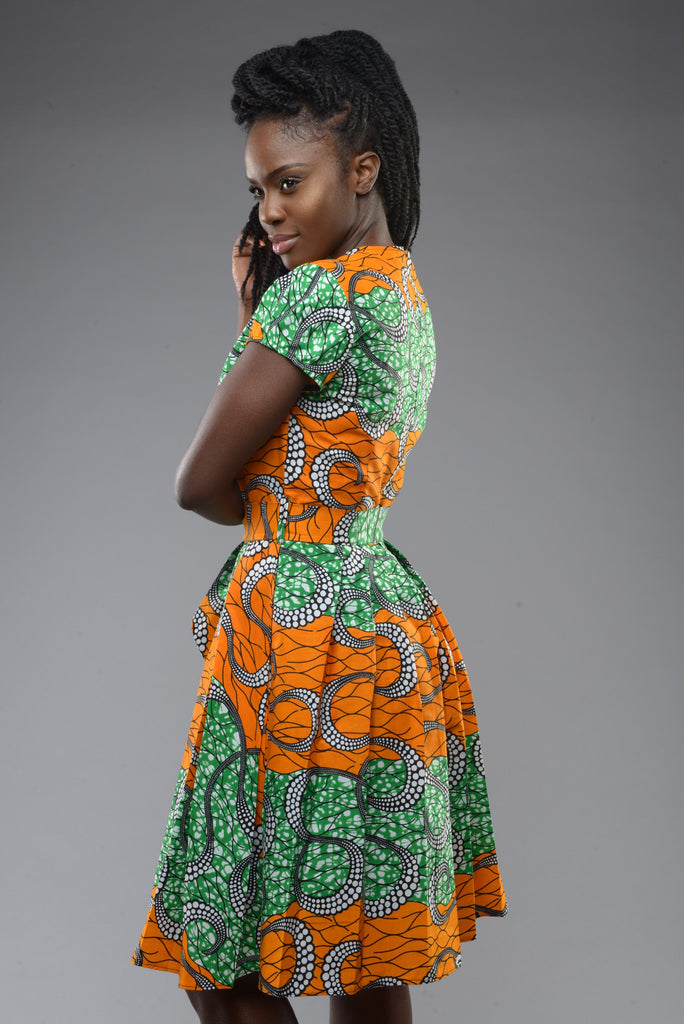 Shop Kuwala.co for the Alice in Wonderland Dress (Orange) by Gitas Portal