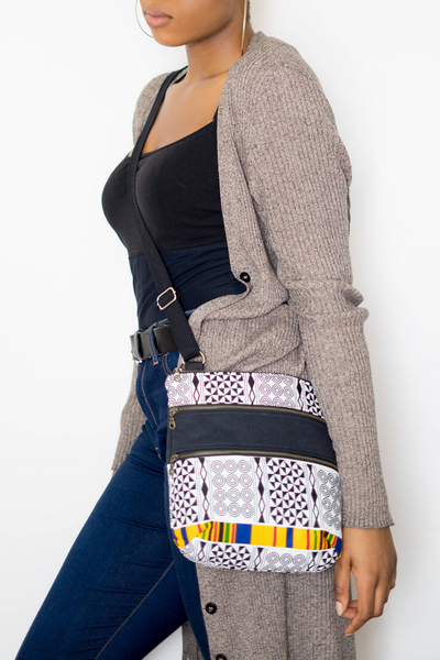 Shop Kuwala.co for the Adinkra Crossover Bag by Thrifty Upenyu