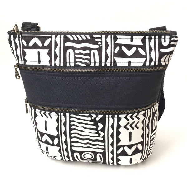 Shop Kuwala.co for the Adinkra Travel Bag (White) by Thrifty Upenyu