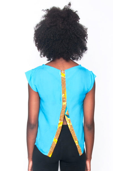 Shop Kuwala.co for the Africhiffon Top 2.0 (Open Back) by B'venaj