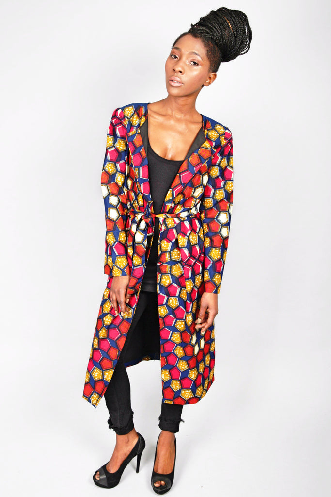 Shop Kuwala.co for the Amama Jacket Pentagons by Atelier D'Afrique