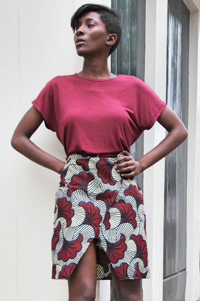 Shop Kuwala.co for the Ankaako Skirt (Flowers) by Akwan2fo