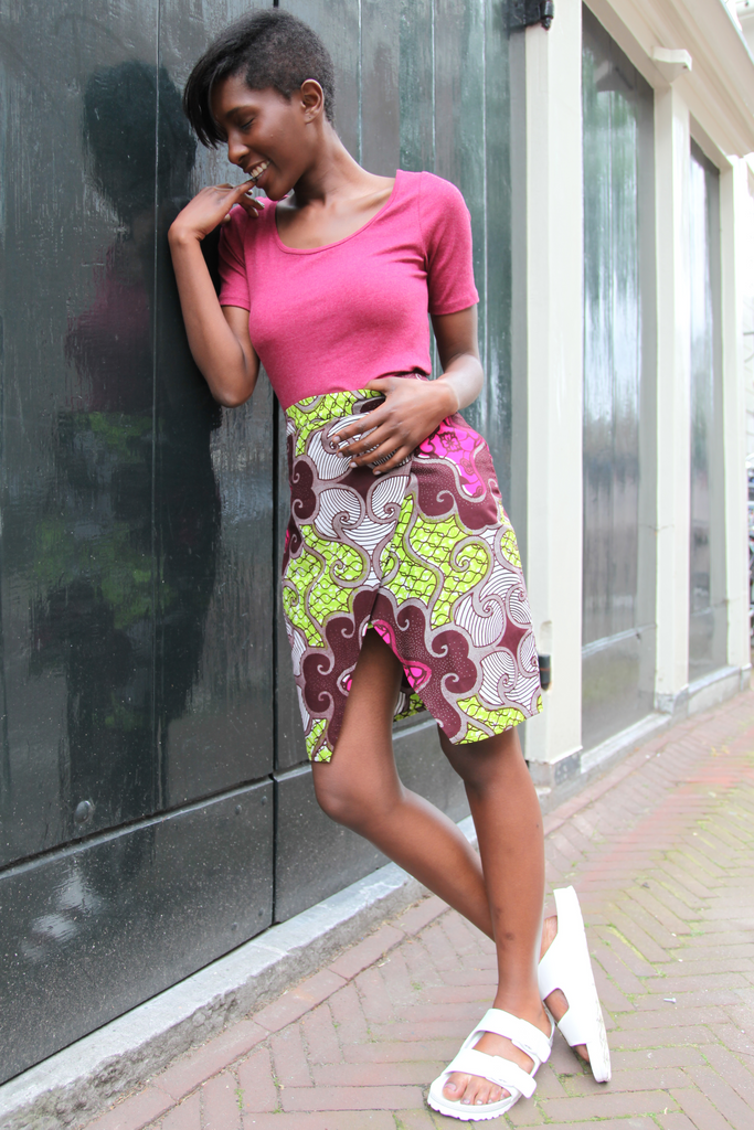 Shop Kuwala.co for the Ankaako Skirt (Pink) by Atelier D'Afrique