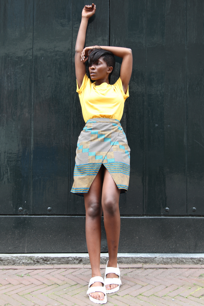 Shop Kuwala.co for the Ankaako Skirt (Squares) by Atelier D'Afrique