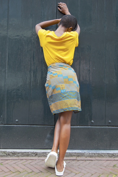 Shop Kuwala.co for the Ankaako Skirt (Squares) by Akwan2fo