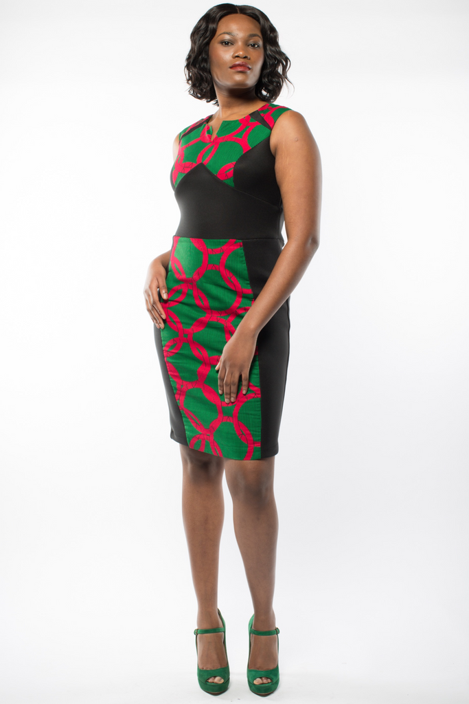 Shop Kuwala.co for the Ankara Posseh dress (Green) by Gitas Portal