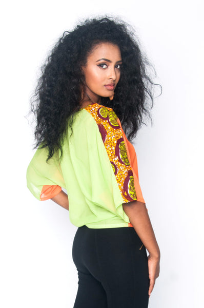 Shop at Kuwala for the Arama Top (orange) by Ajepomaa Design Gallery - 2