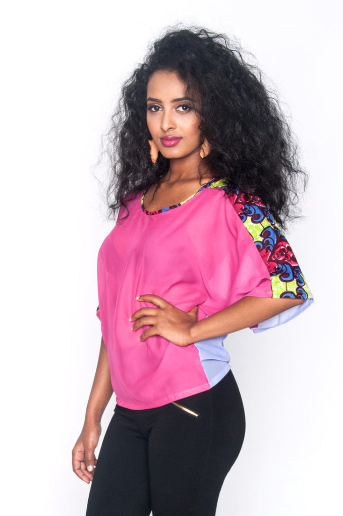 Arama Top (pink/purple) - Kuwala