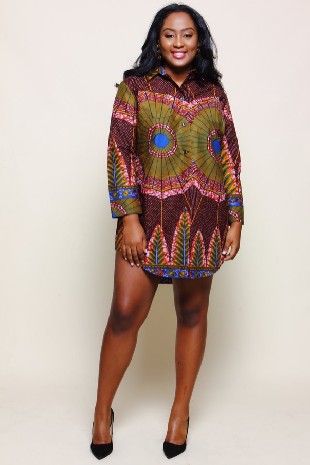 Shop Kuwala.co for the Bae Shirtdress (Malbec) by suakoko betty