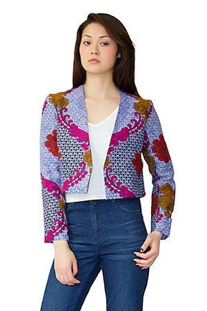 Shop at Kuwala for the Baroque Rose Cropped Jacket by Mayamiko Designed - 1
