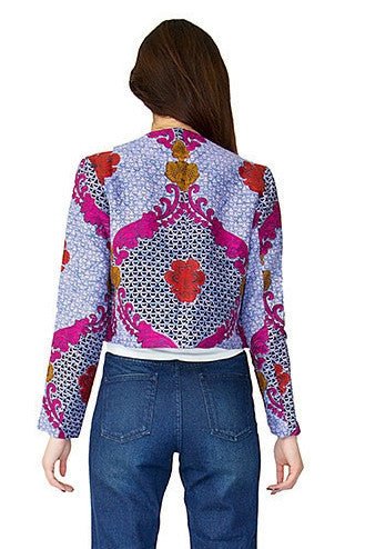 Shop Kuwala for the Baroque Rose Cropped Jacket by Mayamiko Designed