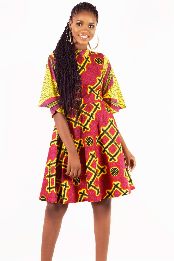 Shop Kuwala.co for the Bell Sleeve Boho Dress (Red) by KIKI Clothing
