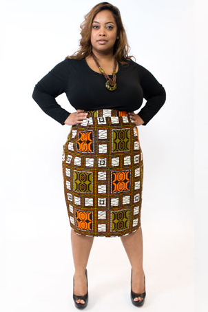 Shop Kuwala for the Blocked Pencil Skirt by Bebe Rose