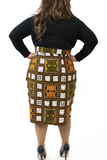 Shop Kuwala.co for the Blocked Pencil Skirt by Bebe Rose