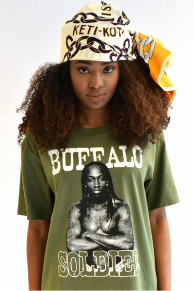 Shop Kuwala for the Buffalo Soldier T-Shirt by Bebe Rose