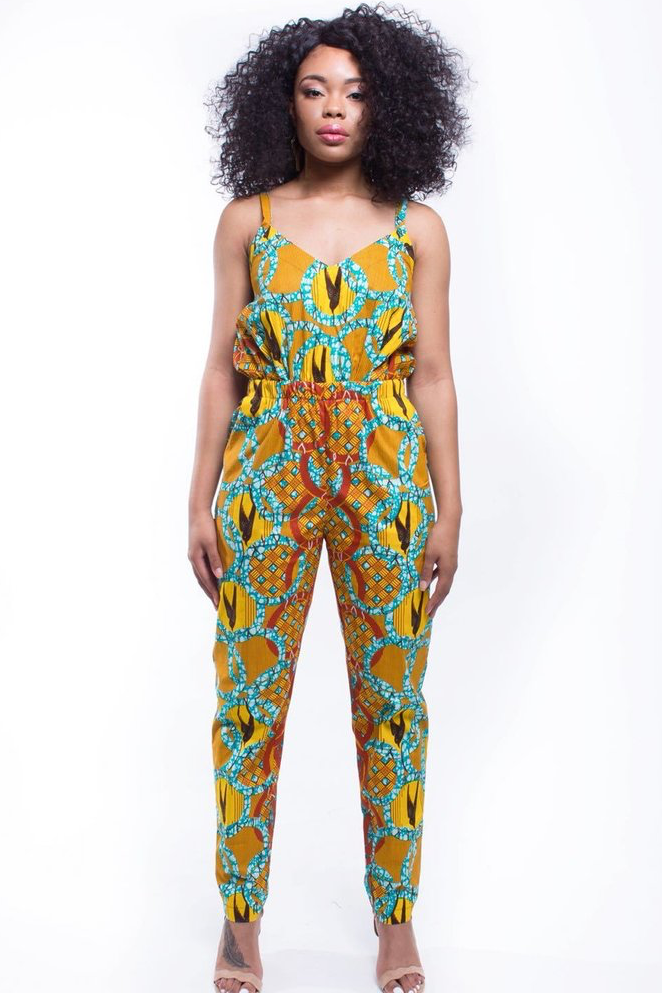 Shop Kuwala.co for the Cece Jumpsuit (Gold Coast) by suakoko betty