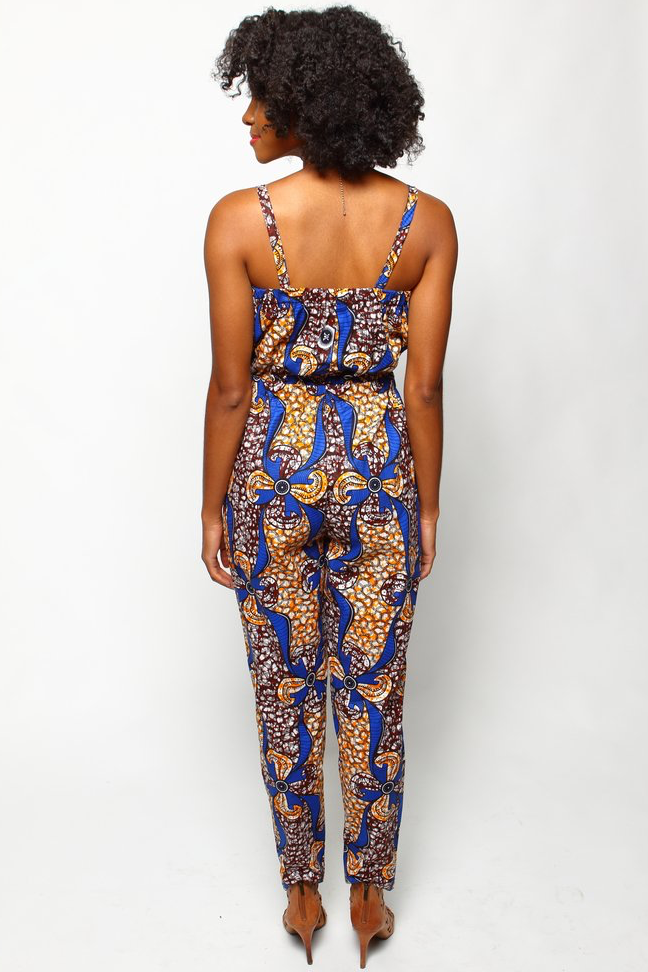 Shop Kuwala.co for the Cece Jumpsuit (Cinnamon) by suakoko betty
