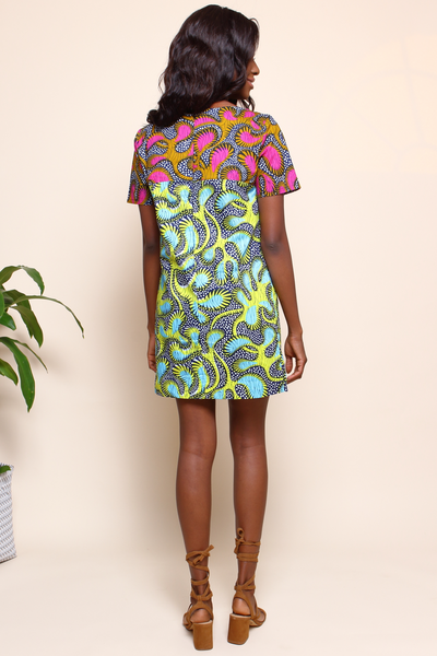 Shop Kuwala.co for the Chelsea Tunic (Lime) by suakoko betty