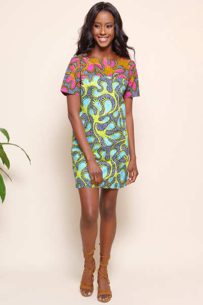 Shop Kuwala for the Chelsea Tunic (Lime) by suakoko betty