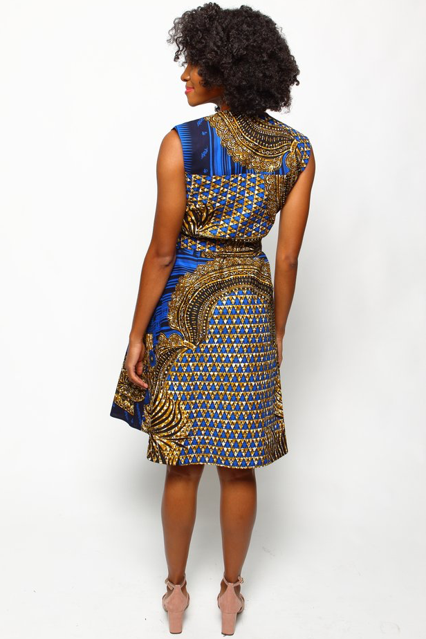 Shop Kuwala.co for the Chima Wrap Dress (Empire Blue) by suakoko betty