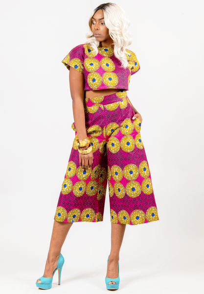 Shop Kuwala.co for the Cropped top & pant set by Missbeida