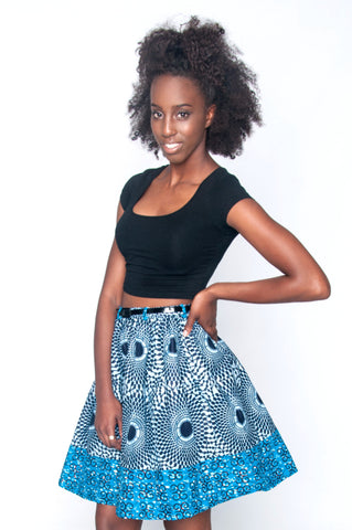 Shop Yopa Skirt (Blue) by Poqua Poqu at Kuwala
