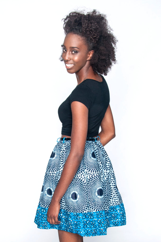 Yopa Skirt (Blue) - Kuwala