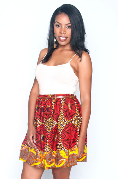 Shop at Kuwala for the Yopa Skirt (Orange) by Poqua Poqu - 2
