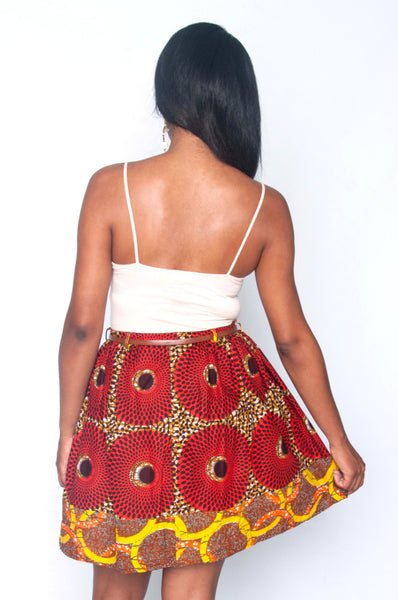 Shop at Kuwala for the Yopa Skirt (Orange) by Poqua Poqu - 3