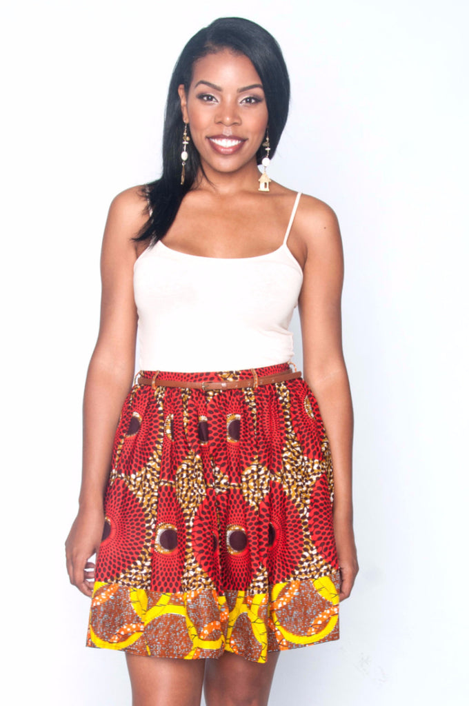 Shop Kuwala.co for the Yopa Skirt (Orange) by Poqua Poqu