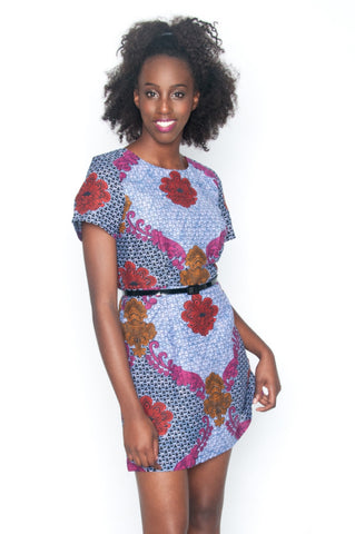 Shop at Kuwala for the Baroque Rose Shift Dress by Mayamiko Designed - 1