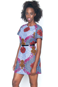 Shop Kuwala.co for the Baroque Rose Shift Dress by Mayamiko Designed