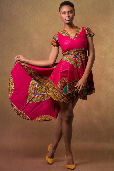 Shop Kuwala.co for the Dashiki High-low Dress by ZNAK DESIGNS