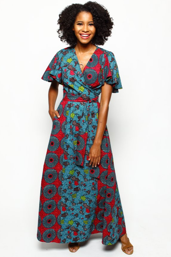 Shop Kuwala.co for the Dinah Wrap Dress (Aegean Blue) by suakoko betty