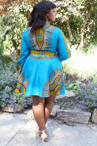 Shop at Kuwala for the Zhara Dress (Aqua Blue) by Asikere Afana - 2