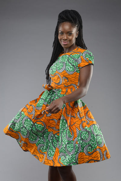 Shop at Kuwala for the Alice in Wonderland Dress (Orange) by Gitas Portal - 1