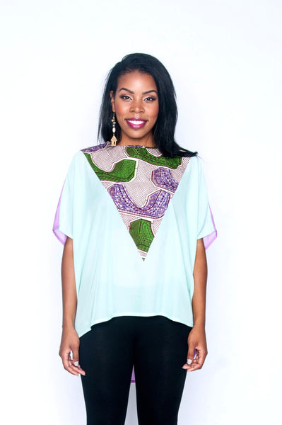 Shop Kuwala.co for the Elorm top (lavender) by Ajepomaa Design Gallery
