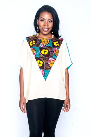 Shop at Kuwala for the Elorm top (teal) by Ajepomaa Design Gallery - 1