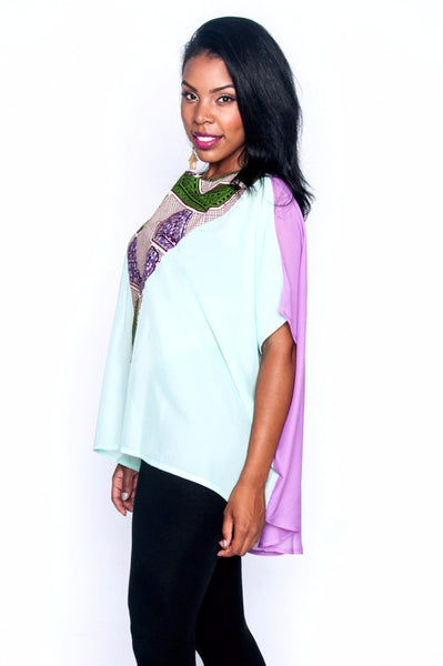 Shop Elorm top (lavender) by Ajepomaa Design Gallery at Kuwala